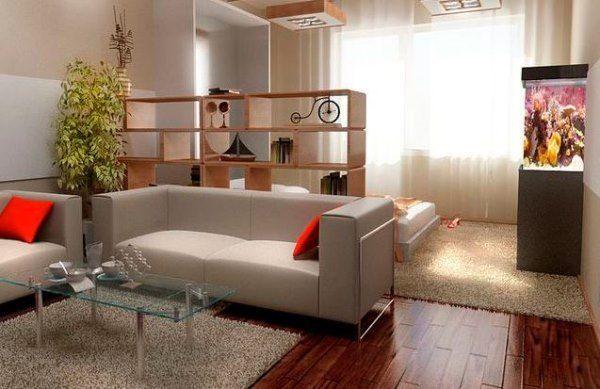 дизайн однокімнатної квартири в хрущовці фото
