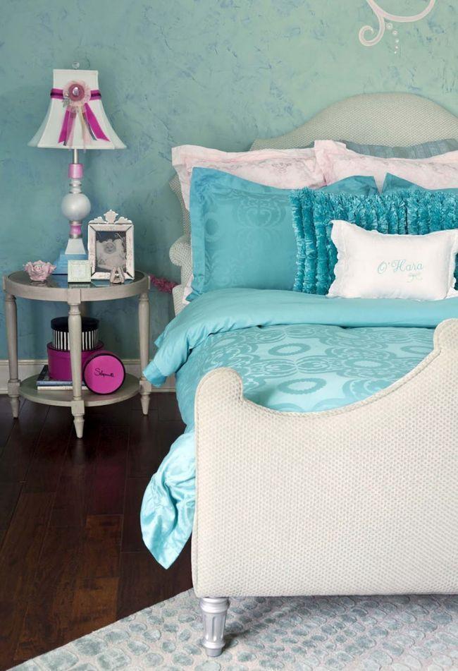 Бірюзова спальня: декор та поєднання кольорів (27 фото)