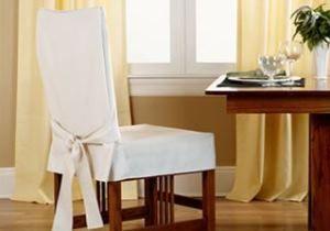 Чохли для кухонних стільців: оригінальний текстиль на кухні (+49 фото)