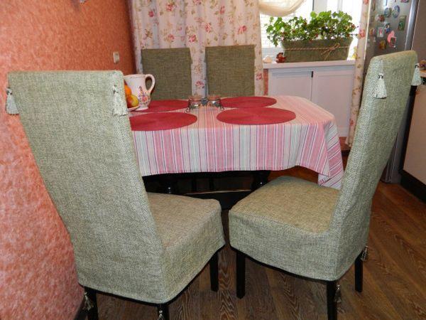 чохли на кухонні стільці зі спинкою фото 7