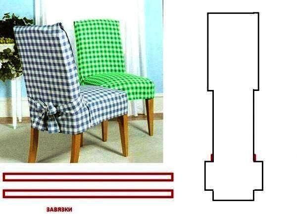 чохли для стільців на кухню фото форма