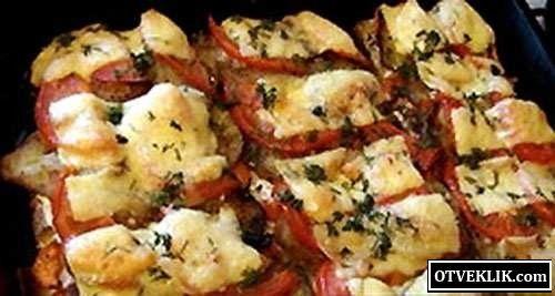 Щоб зготувати рибу з баклажанами, помідорами і перцем?
