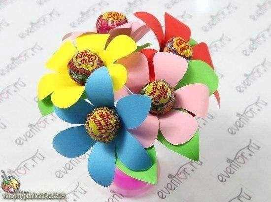 Квіти з чупа-чупс