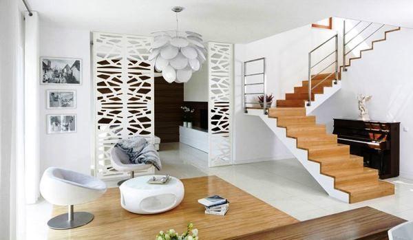 дизайн вітальні в білому кольорі фото