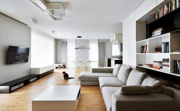 фото дизайну білій вітальні