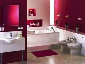 Дизайн інтер`єру ванної в бордовому кольорі (+48 фото)