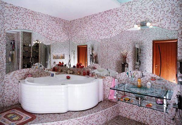 мозаїка в інтер`єрі ванної кімнати фото 2