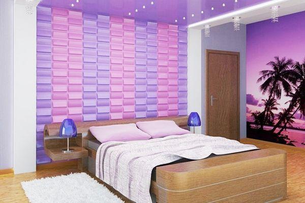 спальня в бузкових тонах дизайн фото