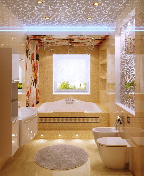 ванна в бежевому кольорі фото 3