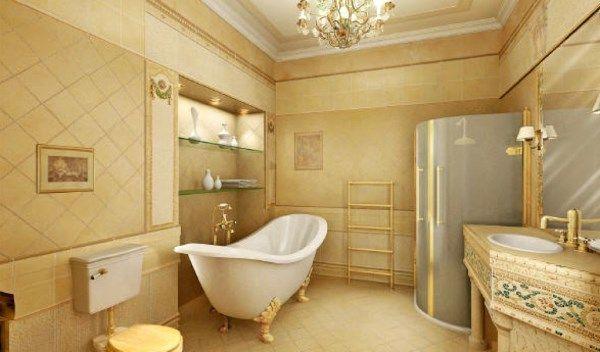 ванна в бежевому кольорі фото 6