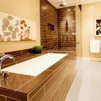 ванна в бежевих тонах фото 27