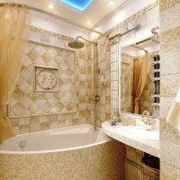ванна в бежевих тонах фото 16