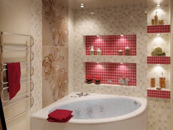 ванна в бежевому кольорі фото