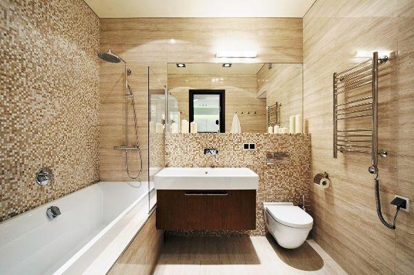 ванна в бежевому кольорі фото 2