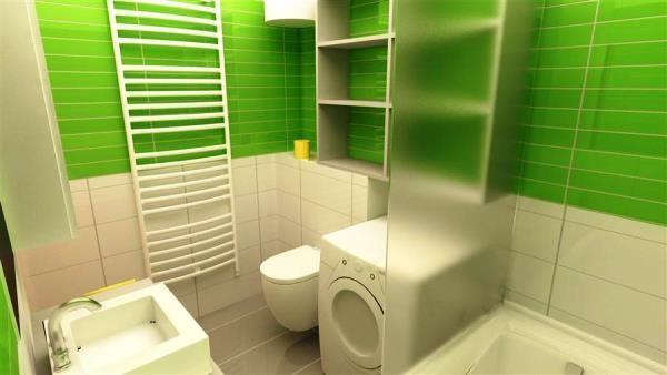 біло зелена ванна кімната фото