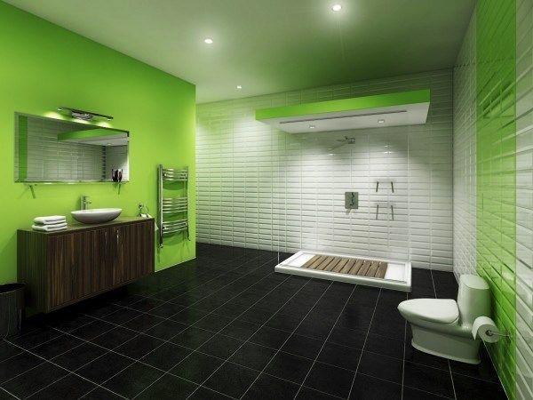ванна кімната зеленого кольору фото