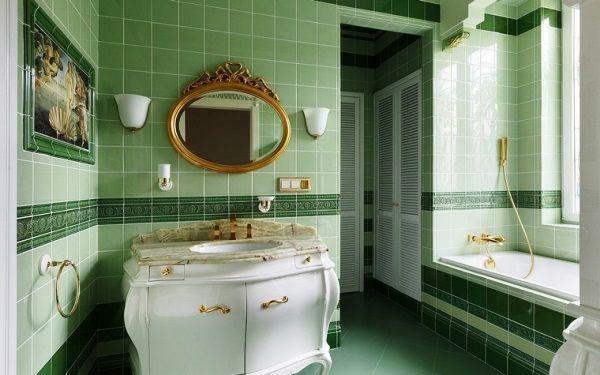 салатова плитка для ванної фото