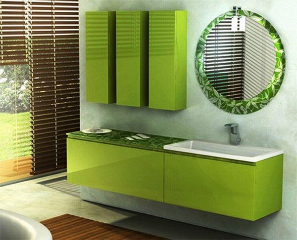 ванна кімната в зелених тонах фото