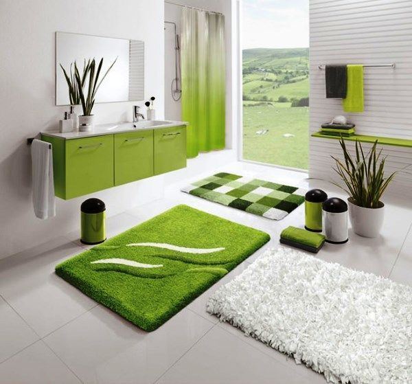 ванна кімната в зеленому кольорі дизайн фото