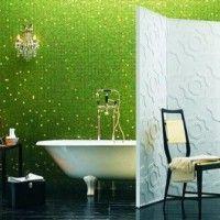 зелена ванна кімната фото 35
