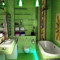 зелена ванна кімната фото 49