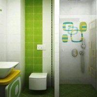 зелена ванна кімната фото 32
