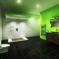 зелена ванна кімната фото 24