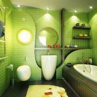 зелена ванна кімната фото 33