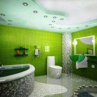 зелена ванна кімната фото 5