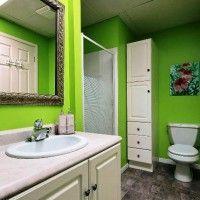 зелена ванна кімната фото 9