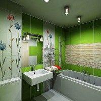 зелена ванна кімната фото 50