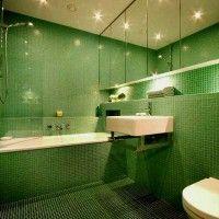 зелена ванна кімната фото 29