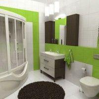 зелена ванна кімната фото 51