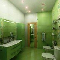 зелена ванна кімната фото 44