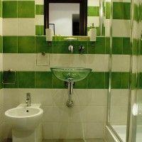 зелена ванна кімната фото 15