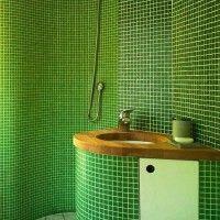 зелена ванна кімната фото 23