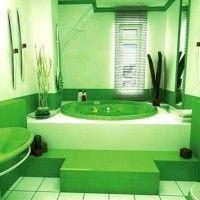 зелена ванна кімната фото 31