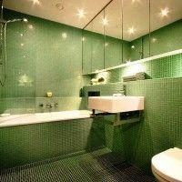 зелена ванна кімната фото 14