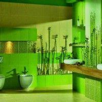 зелена ванна кімната фото 17
