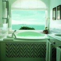 зелена ванна кімната фото 45
