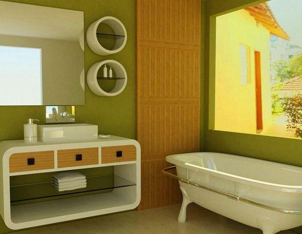 ванна в зелених тонах фото
