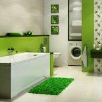 зелена ванна кімната фото 25