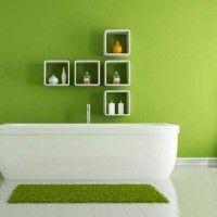 зелена ванна кімната фото 21
