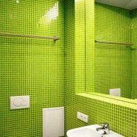 зелена ванна кімната фото 34