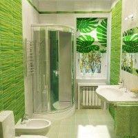 зелена ванна кімната фото 43