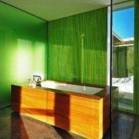 зелена ванна кімната фото 7