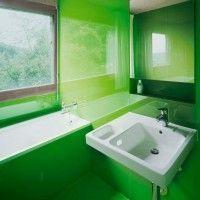 зелена ванна кімната фото 19