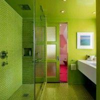 зелена ванна кімната фото 10