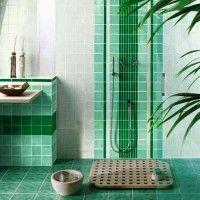 зелена ванна кімната фото 36