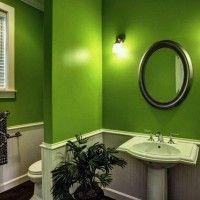 зелена ванна кімната фото 30